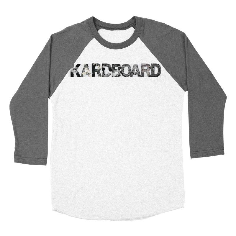 king photo logo 2 Men's Baseball Triblend Longsleeve T-Shirt by Kardboard King's Shop