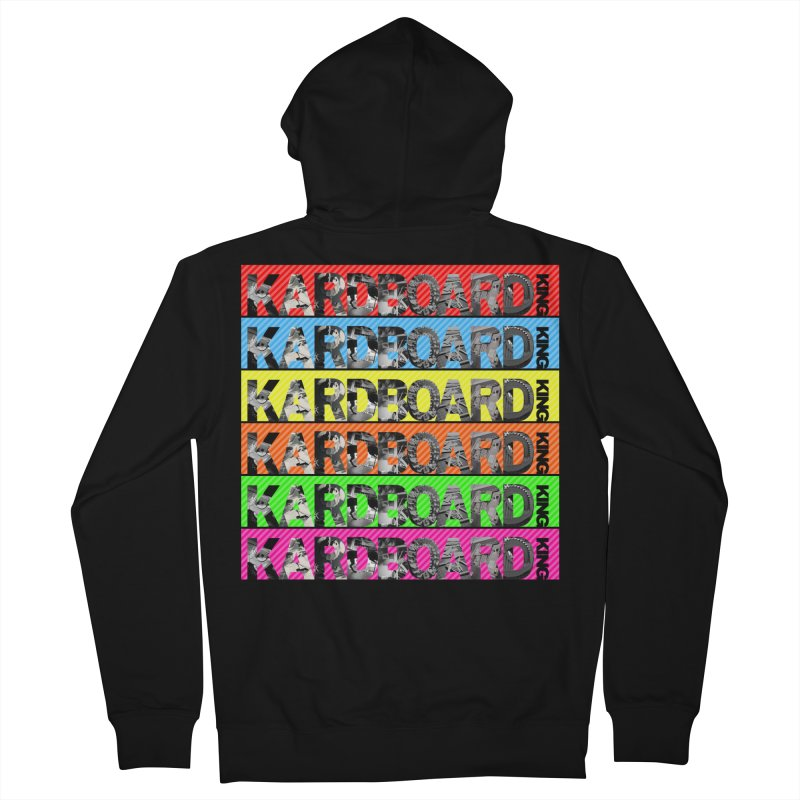 RAINBOW PHOTO LOGO Men's French Terry Zip-Up Hoody by Kardboard King's Shop