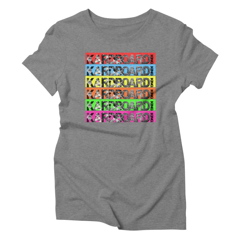 RAINBOW PHOTO LOGO Women's Triblend T-Shirt by Kardboard King's Shop