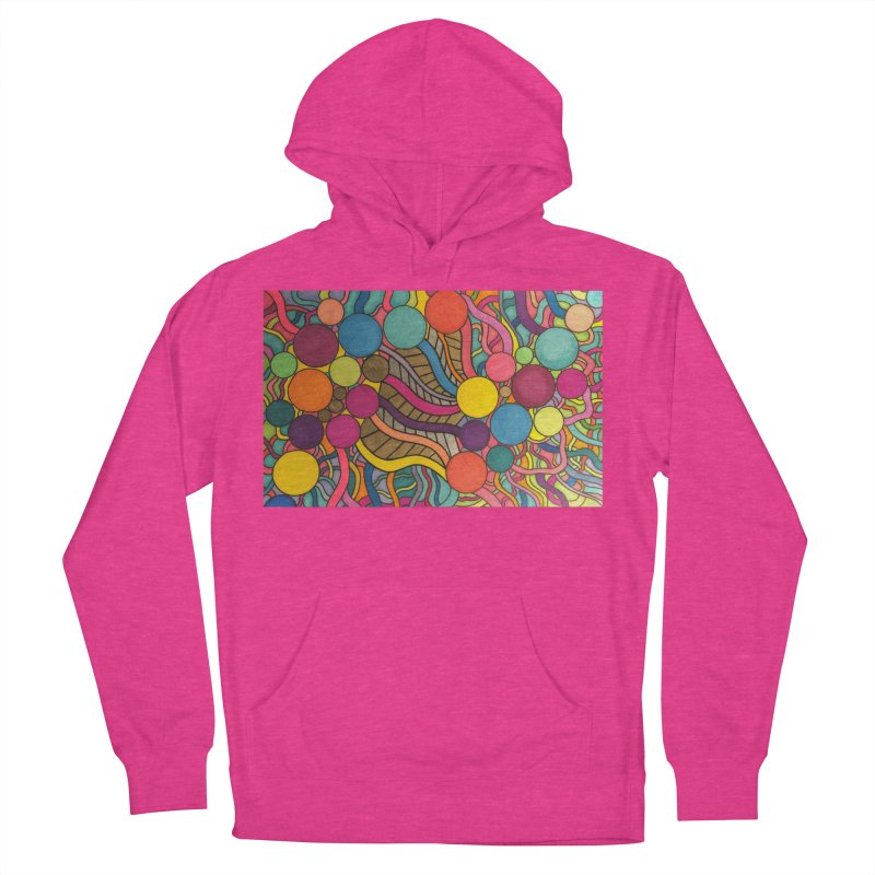 King Original Circles in Men's French Terry Pullover Hoody Heather Heliconia by Kardboard King's Shop