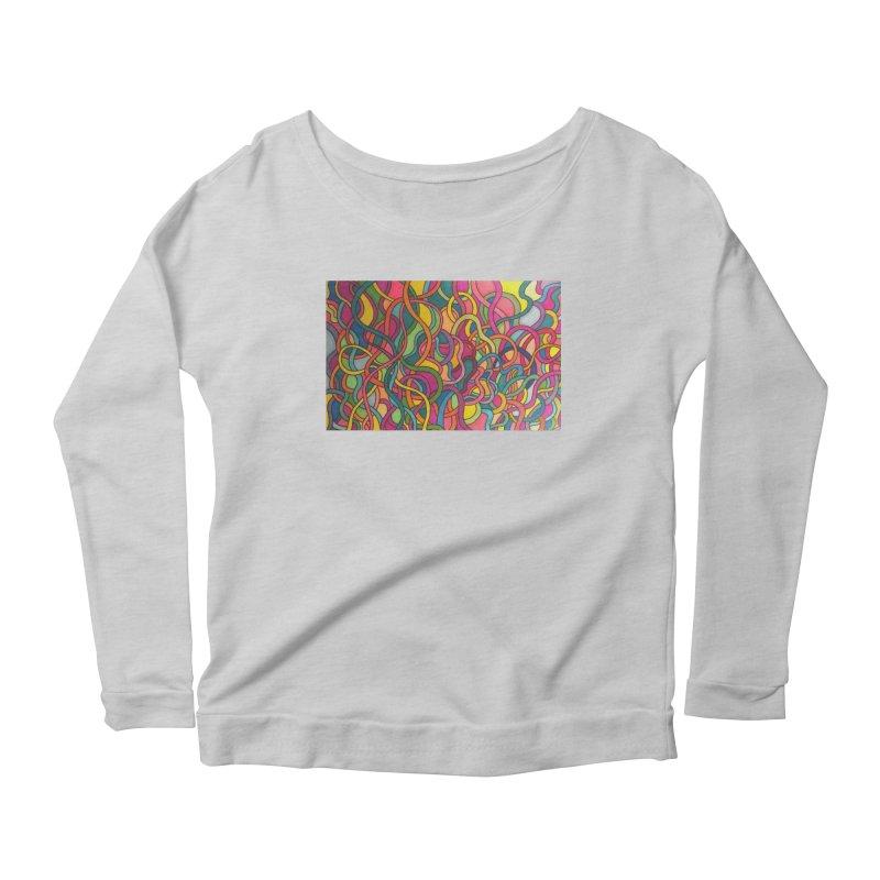 King Original Waves Women's Scoop Neck Longsleeve T-Shirt by Kardboard King's Shop