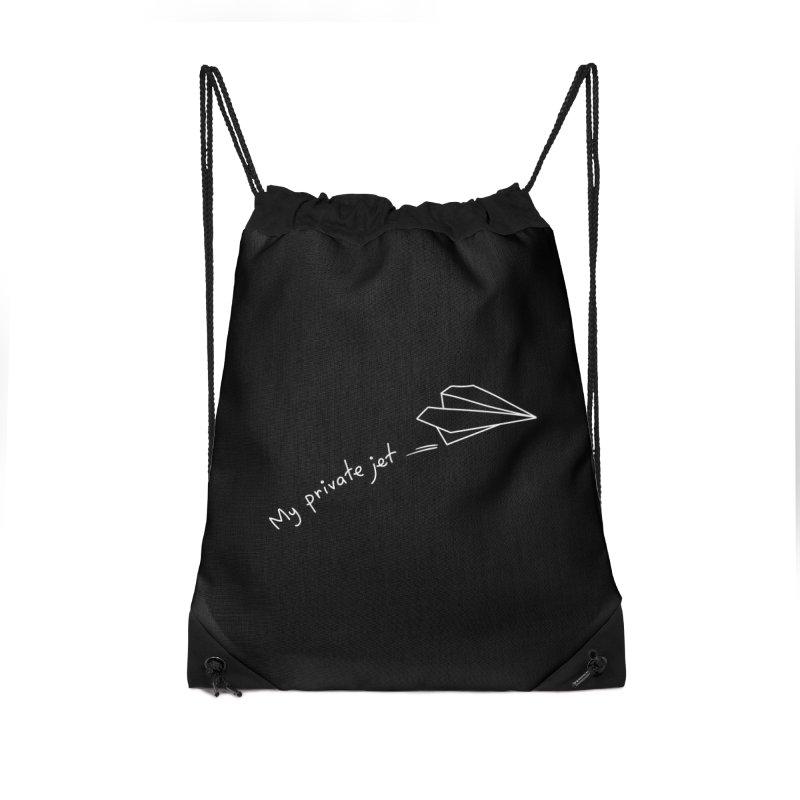 My private jet Accessories Drawstring Bag Bag by Kika