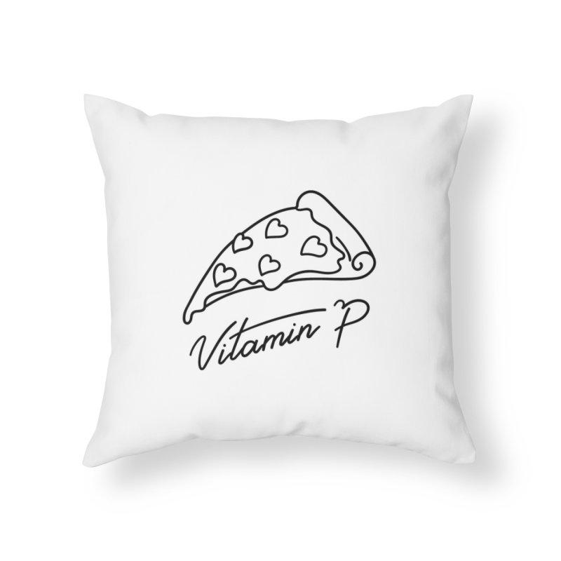 Vitamin P Home Throw Pillow by Kika