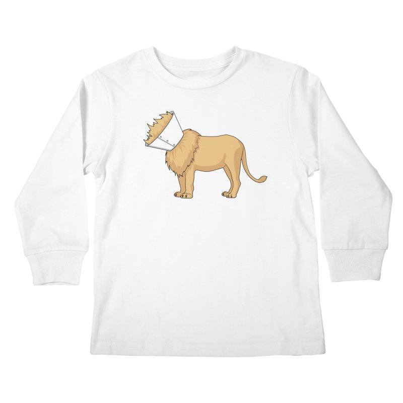 Fluffy Situation Kids Longsleeve T-Shirt by Karina Zlott