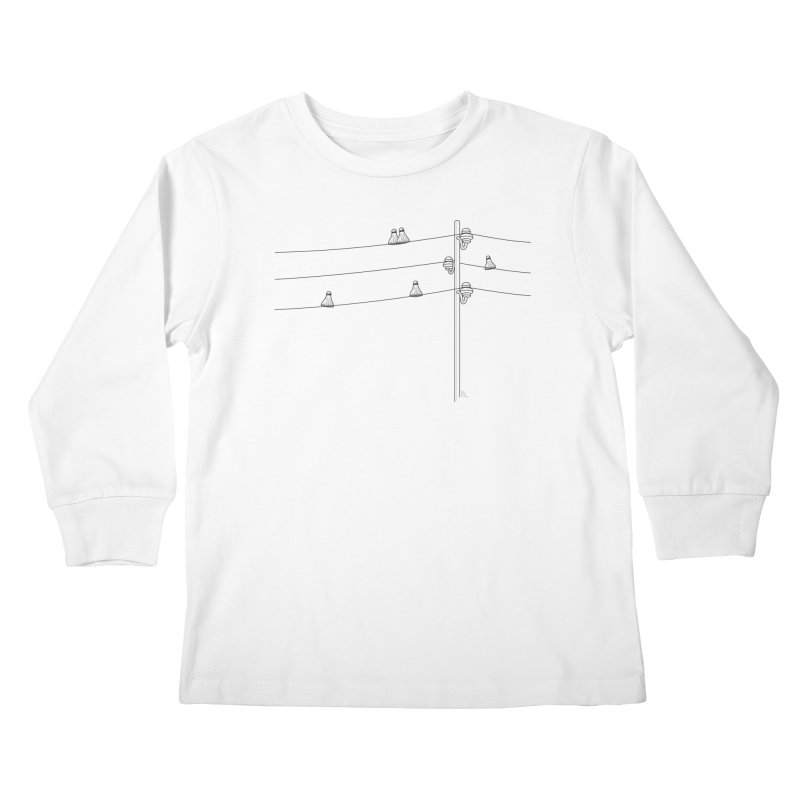 Birdminton 2 Kids Longsleeve T-Shirt by Karina Zlott
