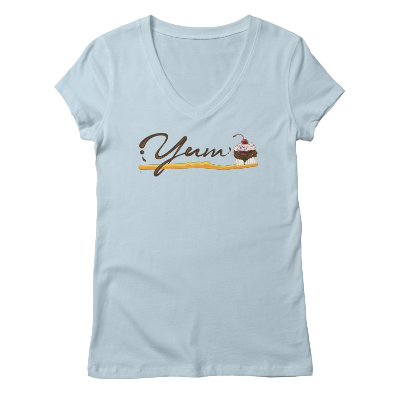Yum! Women's Regular V-Neck by Kika