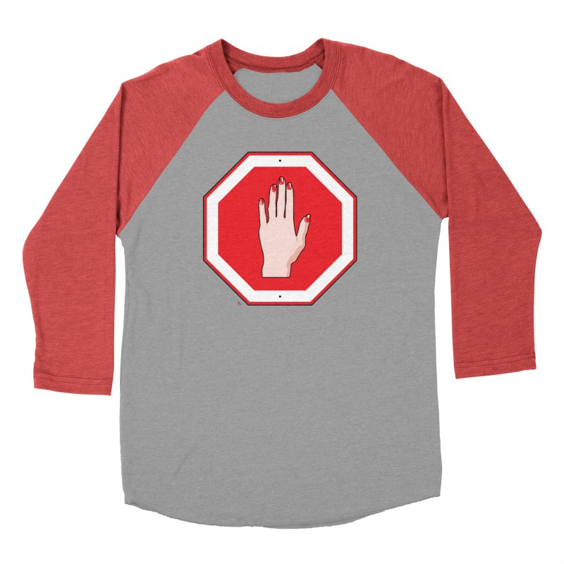 Stop Sign Women's Baseball Triblend Longsleeve T-Shirt by Kika