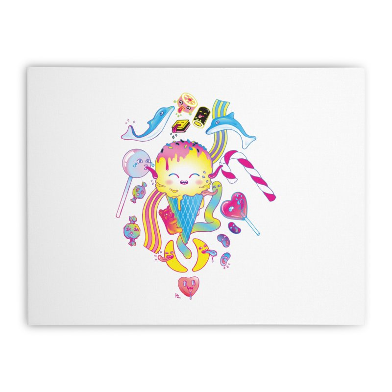 Sweet Party Home Stretched Canvas by Kika