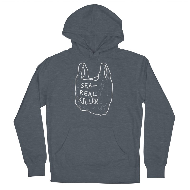 Sea Real Killer Men's French Terry Pullover Hoody by Karina Zlott