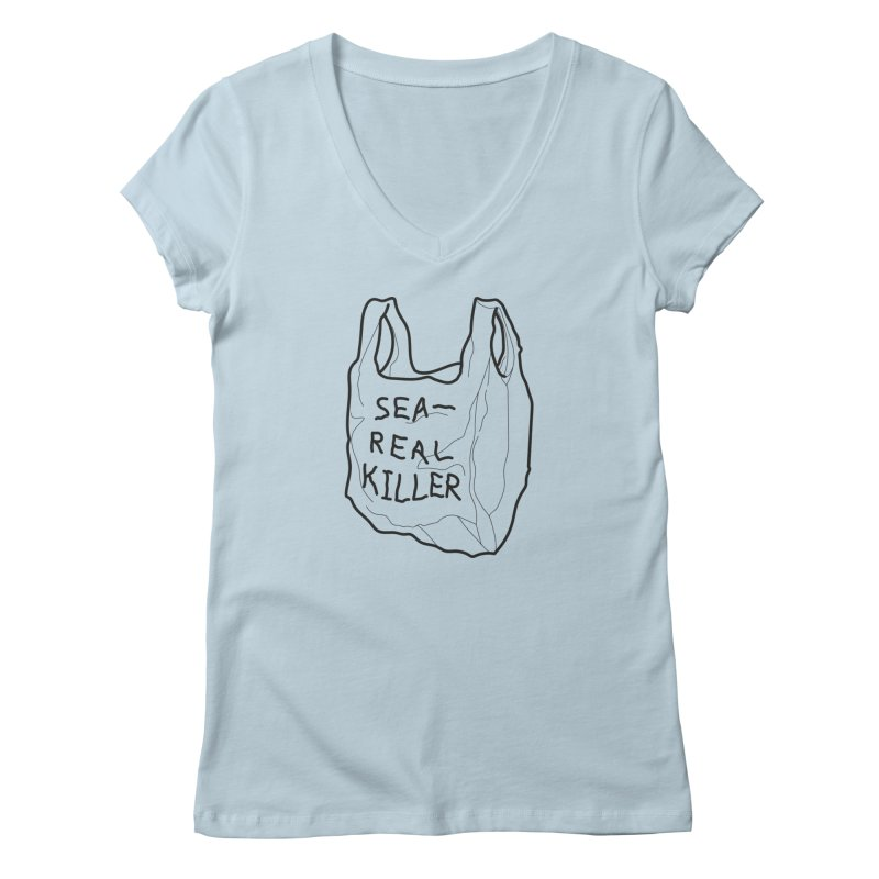 Sea Real Killer (Bright) Women's V-Neck by Kika