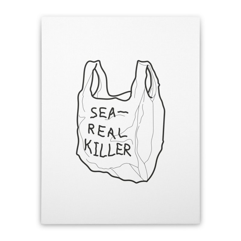 Sea Real Killer (Bright) Home Stretched Canvas by Kika