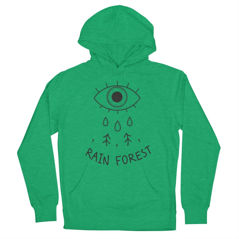 Rain Forest Women's French Terry Pullover Hoody by Kika