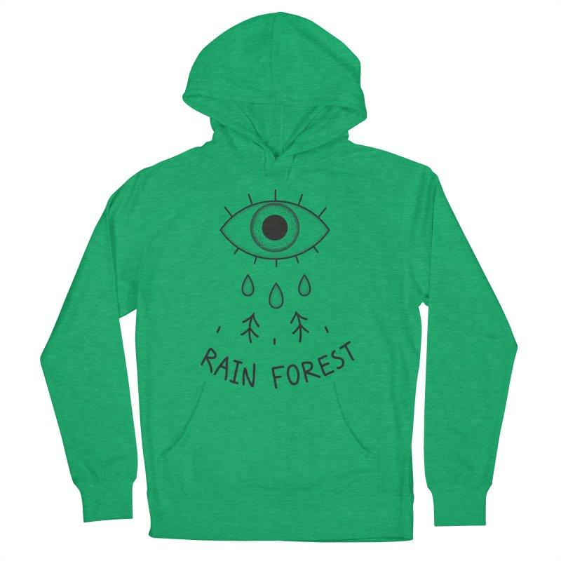 Rain Forest Men's French Terry Pullover Hoody by Karina Zlott