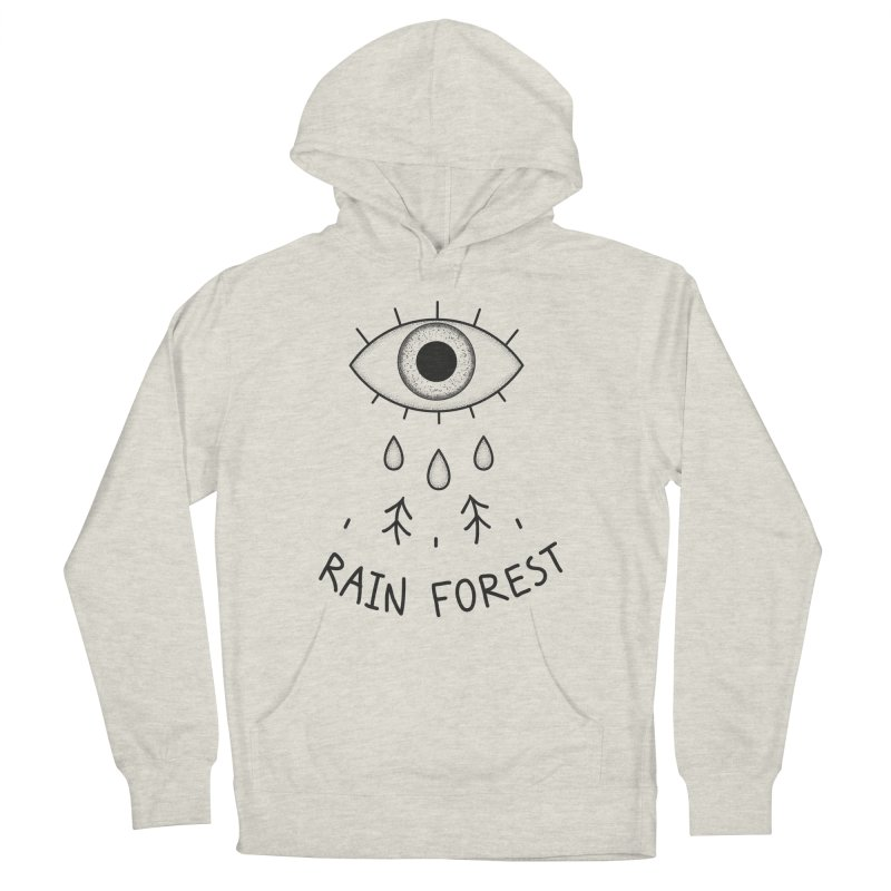 Rain Forest Men's French Terry Pullover Hoody by Karina Zlott