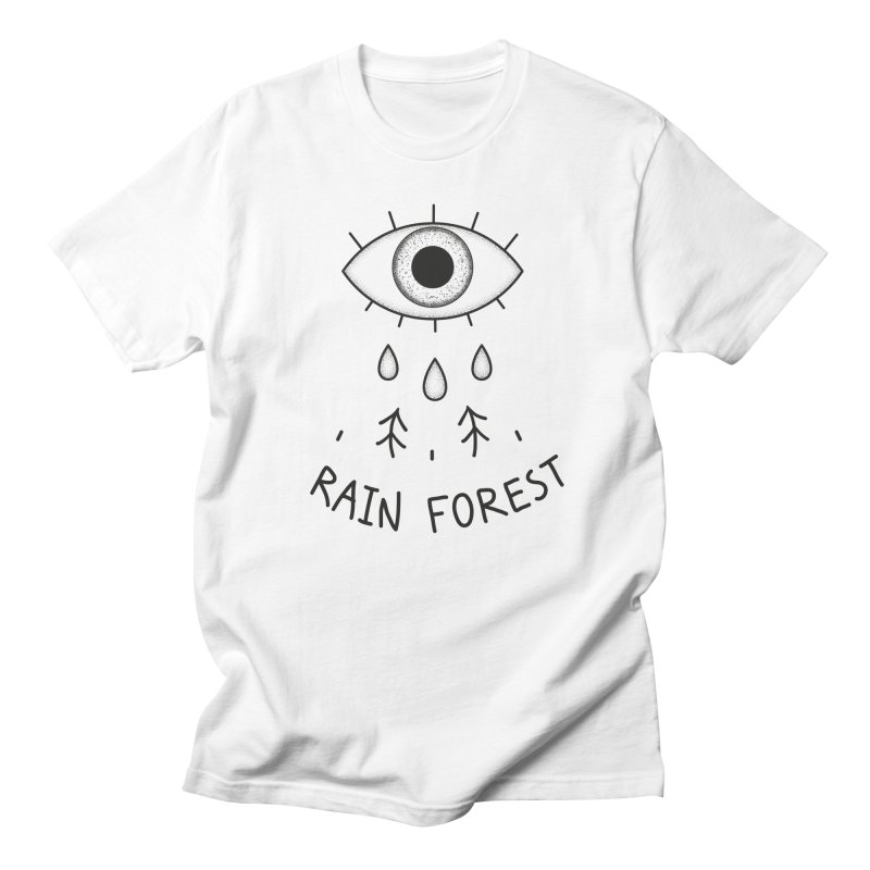 Rain Forest Men's Regular T-Shirt by Kika