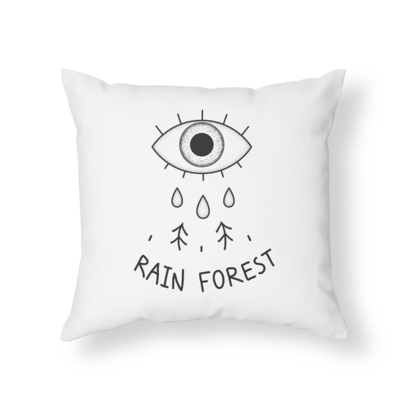 Rain Forest Home Throw Pillow by Kika