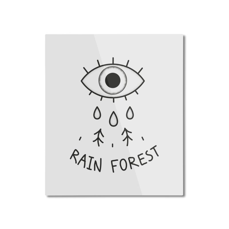 Rain Forest Home Mounted Aluminum Print by Kika