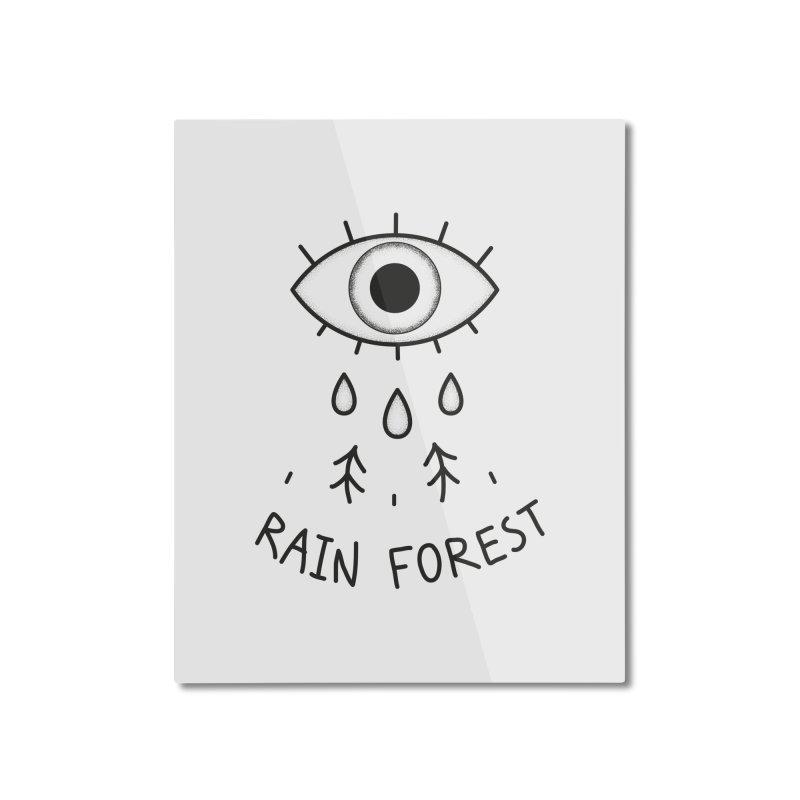 Rain Forest Home Mounted Aluminum Print by Kika