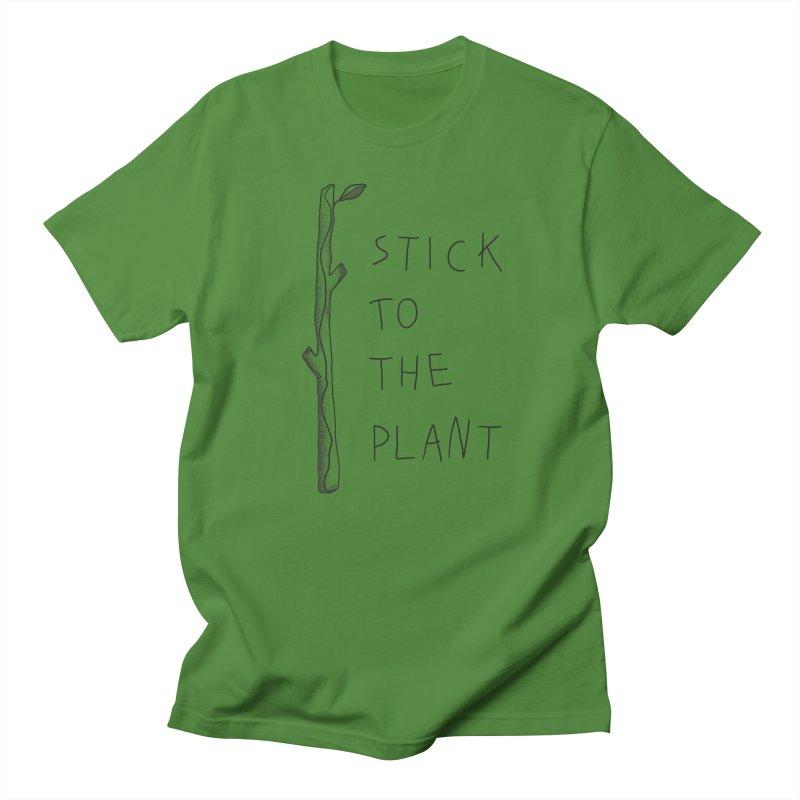 Stick to the Plant (bright) Men's Regular T-Shirt by Kika