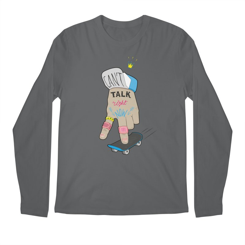 Can't Talk Right Now Men's Longsleeve T-Shirt by Kika