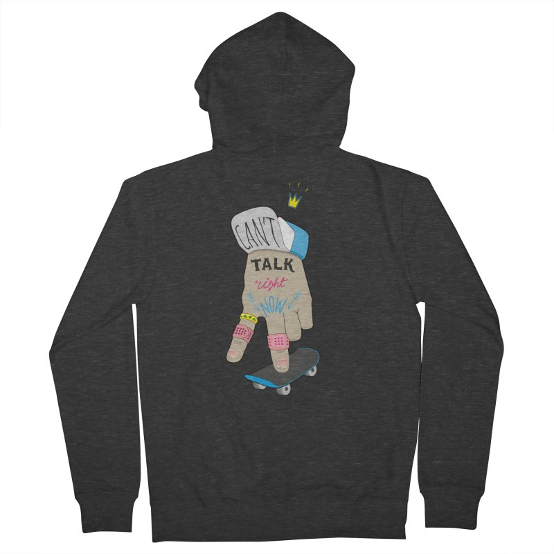 Can't Talk Right Now Men's French Terry Zip-Up Hoody by Karina Zlott