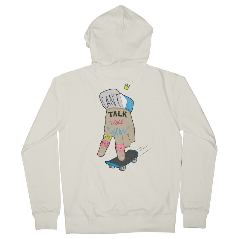 Can't Talk Right Now Men's French Terry Zip-Up Hoody by Kika