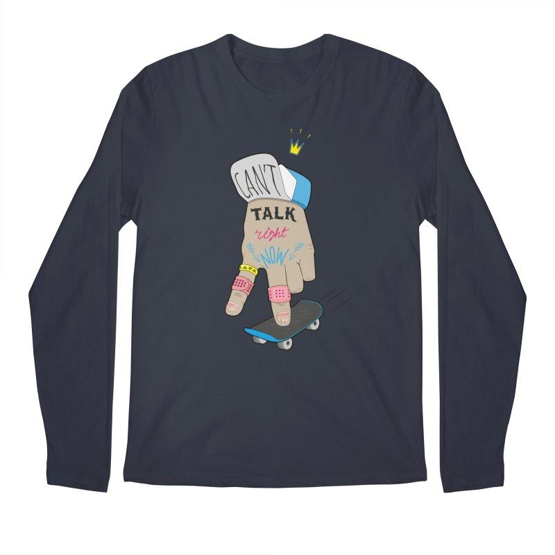 Can't Talk Right Now Men's Regular Longsleeve T-Shirt by Karina Zlott