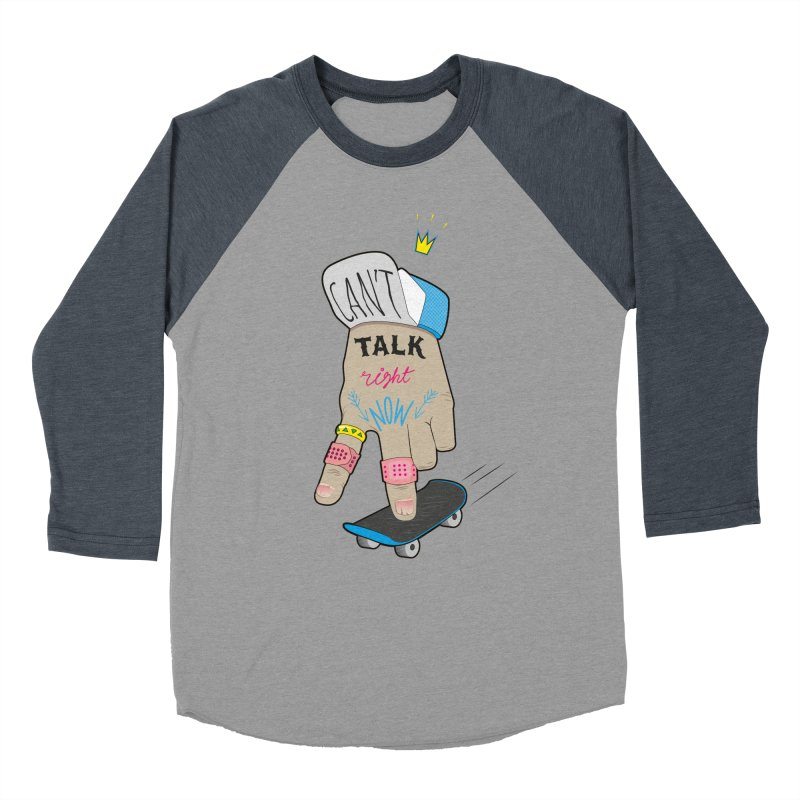 Can't Talk Right Now Men's Baseball Triblend Longsleeve T-Shirt by Karina Zlott