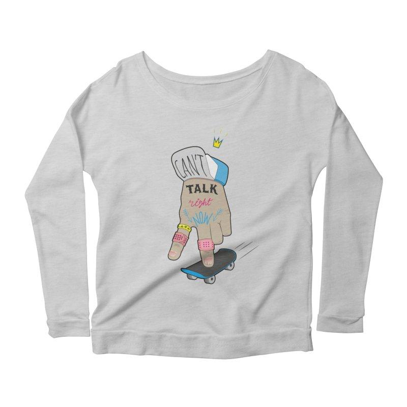 Can't Talk Right Now Women's Scoop Neck Longsleeve T-Shirt by Kika