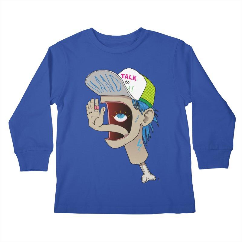 Talk to the Hand Kids Longsleeve T-Shirt by Kika