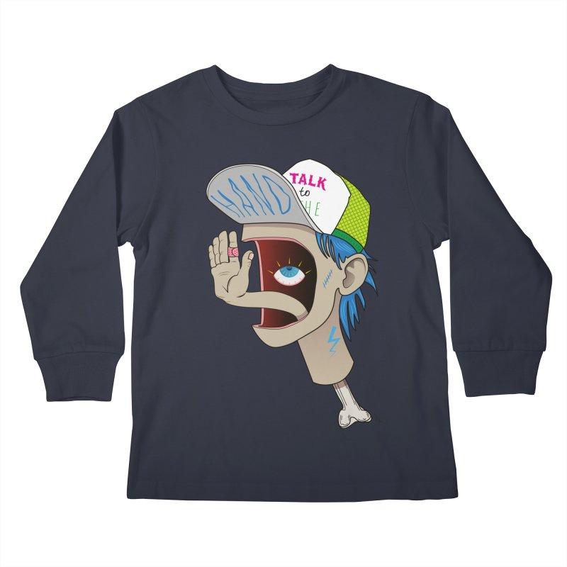 Talk to the Hand Kids Longsleeve T-Shirt by Karina Zlott