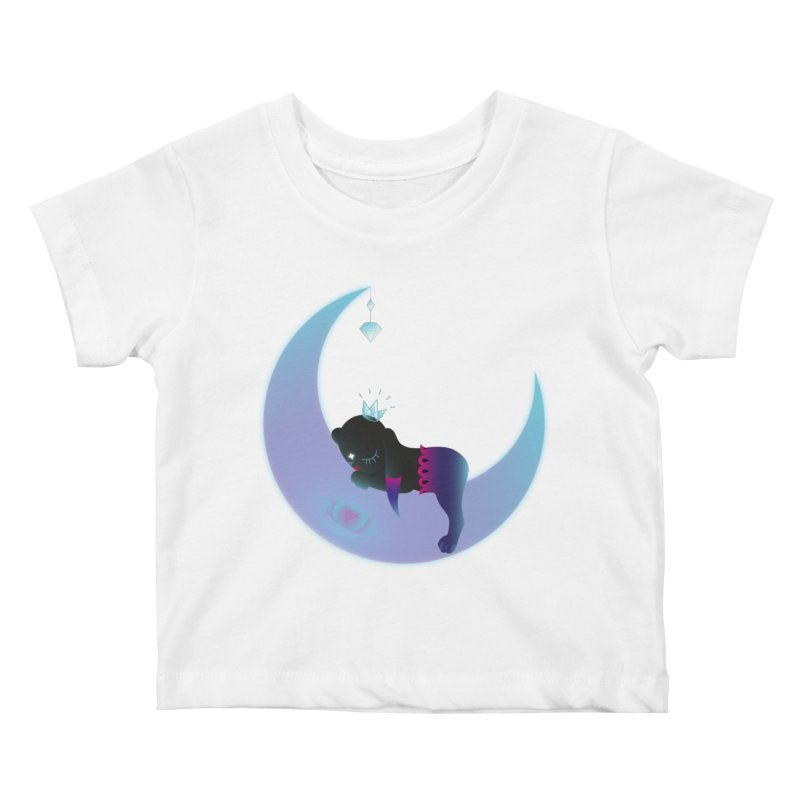 Moon-Dream Kids Baby T-Shirt by Kika