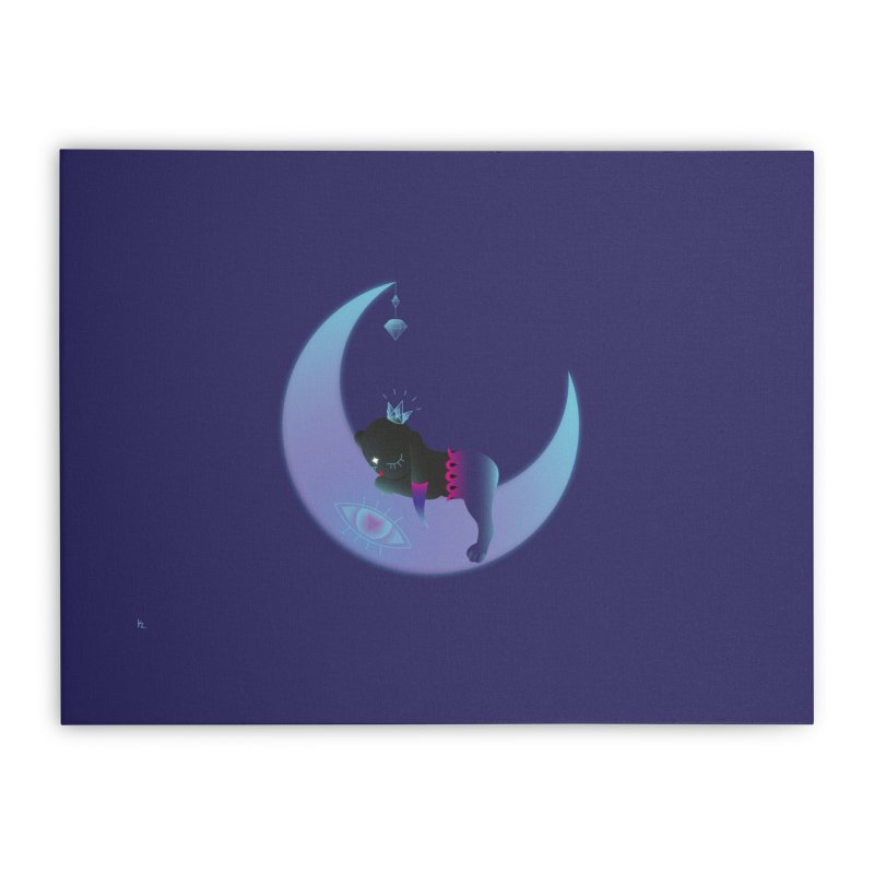 Moon-Dream Home Stretched Canvas by Kika
