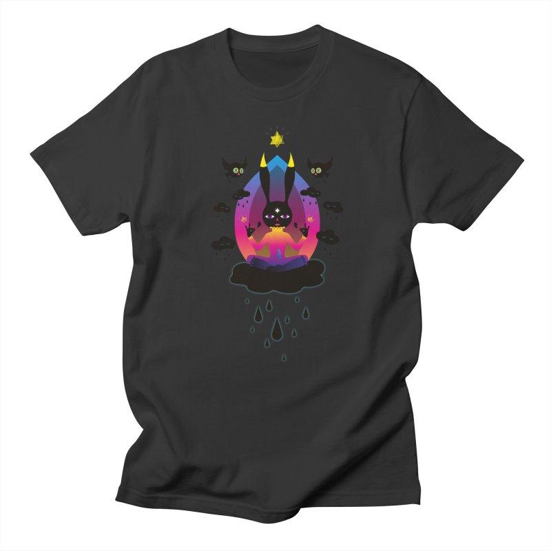 Black Rain Men's Regular T-Shirt by Kika
