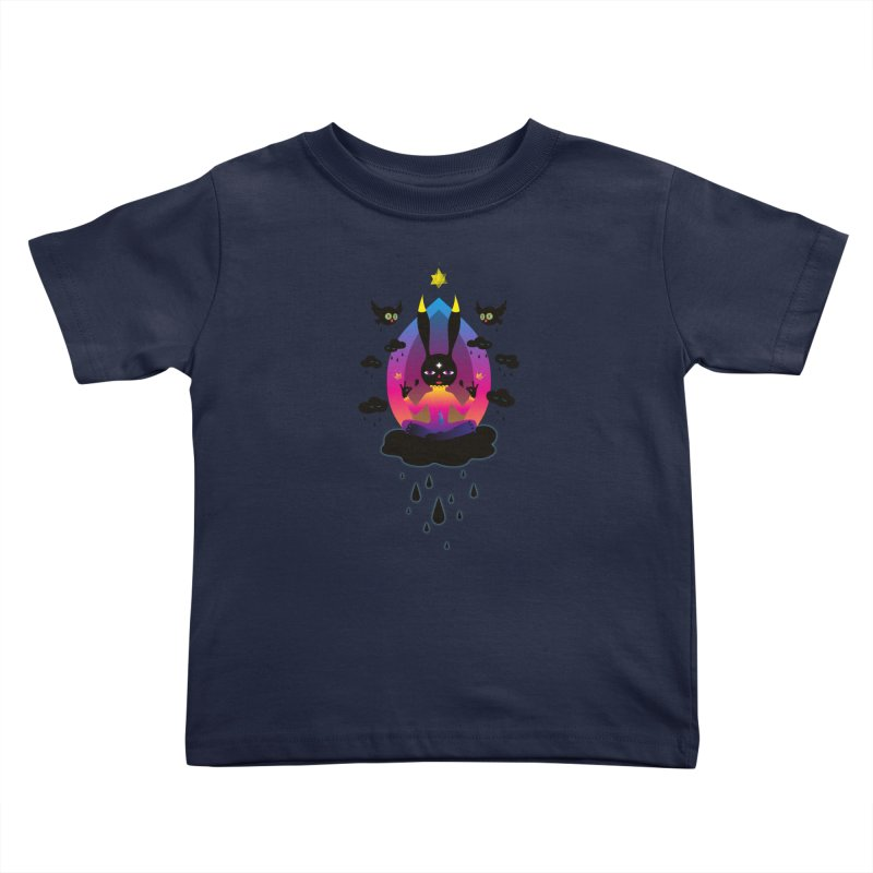 Black Rain Kids Toddler T-Shirt by Kika