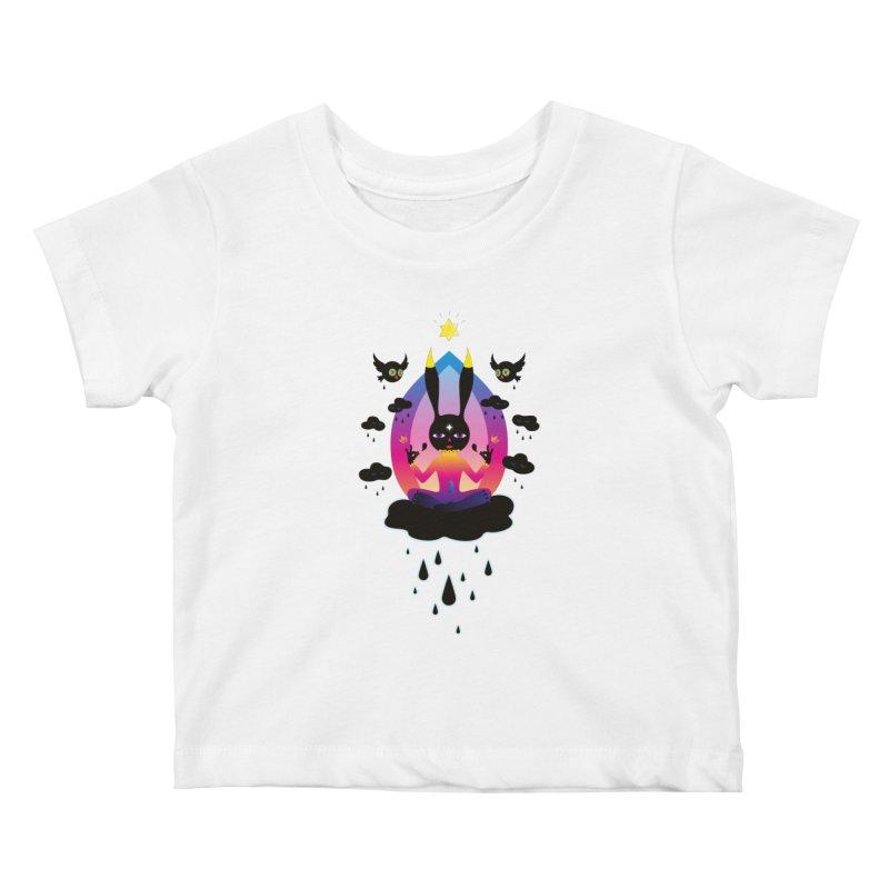 Black Rain Kids Baby T-Shirt by Karina Zlott