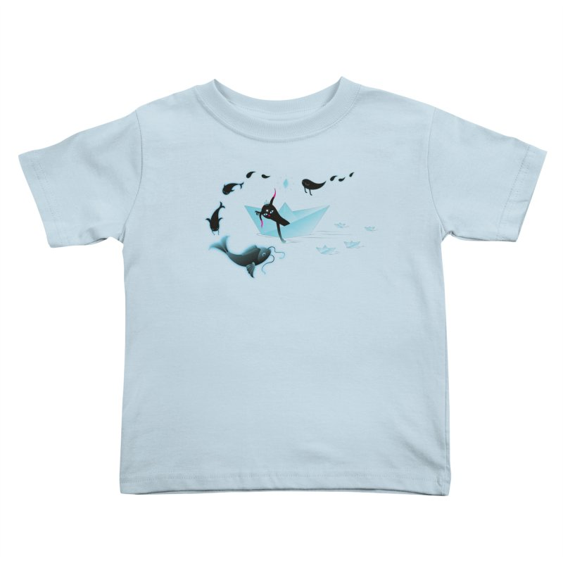 Sailing away Kids Toddler T-Shirt by Kika