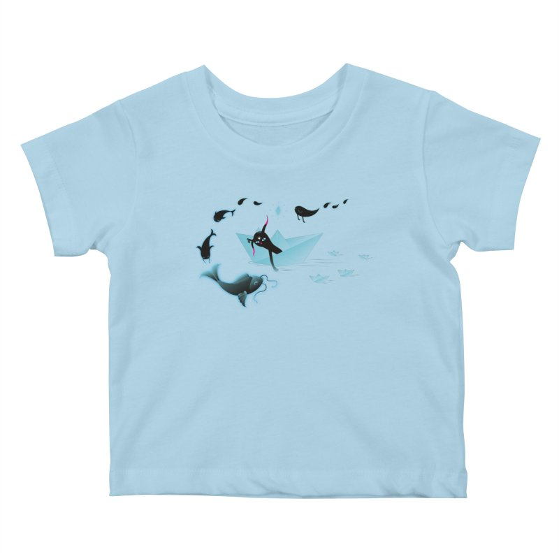 Sailing away Kids Baby T-Shirt by Kika