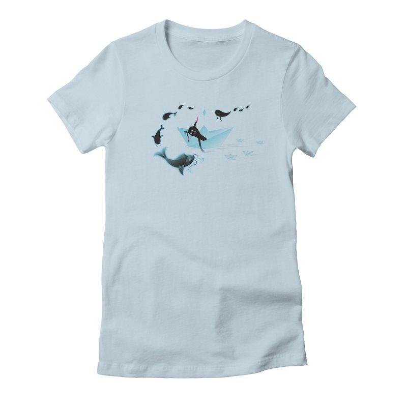 Sailing away Women's Fitted T-Shirt by Kika