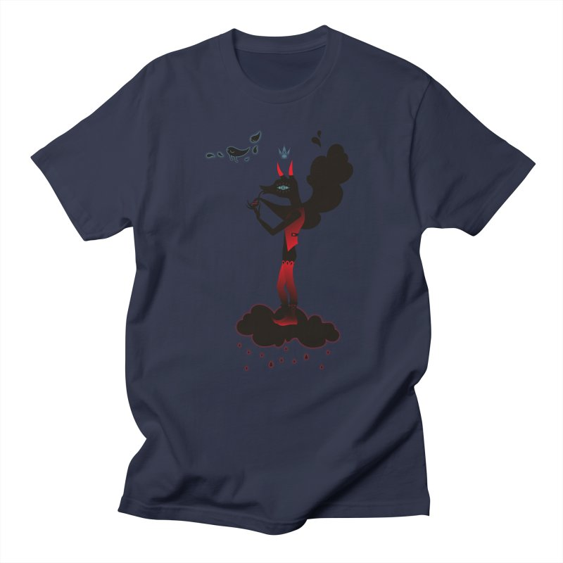 Black Smoke Women's Regular Unisex T-Shirt by Kika