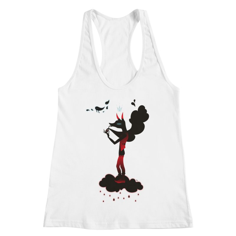 Black Smoke Women's Racerback Tank by Kika