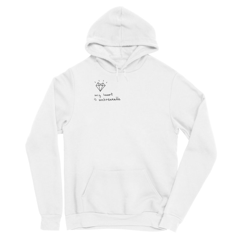 My Heart is Unbreakable Men's Pullover Hoody by Kika