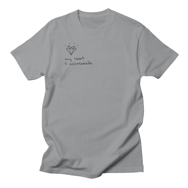 My Heart is Unbreakable Men's Regular T-Shirt by Karina Zlott