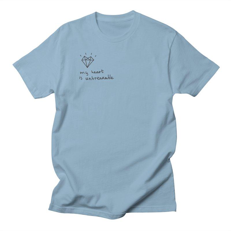 My Heart is Unbreakable Men's Regular T-Shirt by Kika