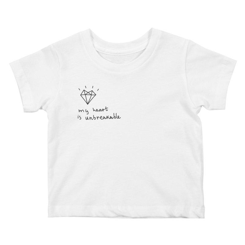My Heart is Unbreakable Kids Baby T-Shirt by Karina Zlott