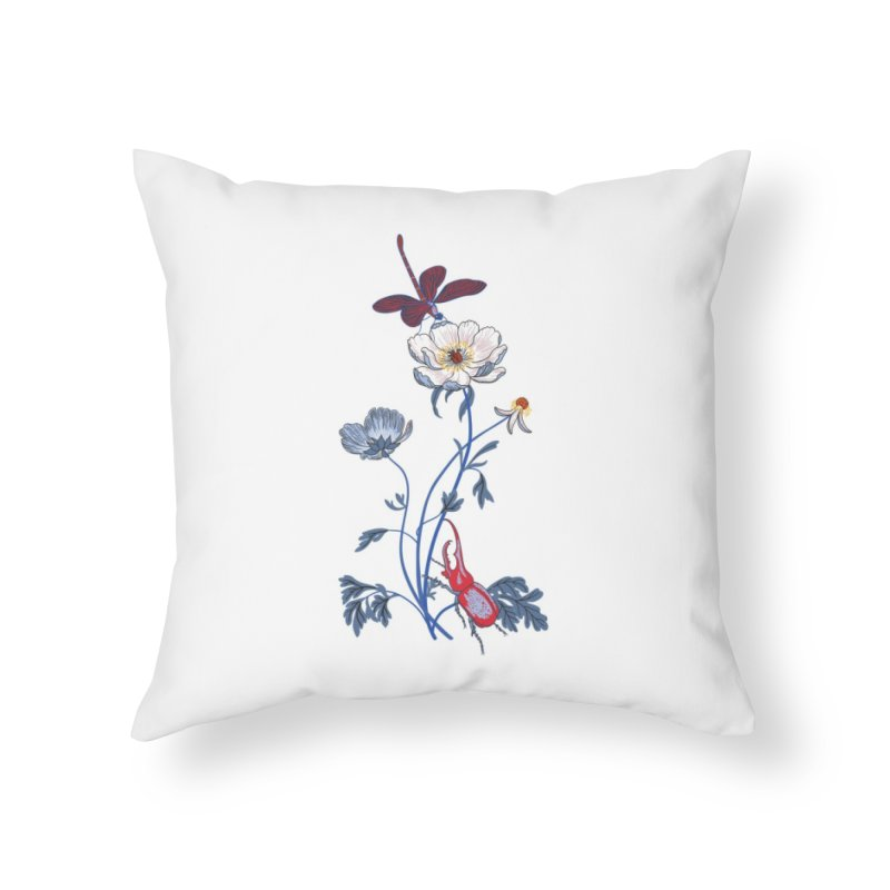 Spring Blast 1 Home Throw Pillow by Kika