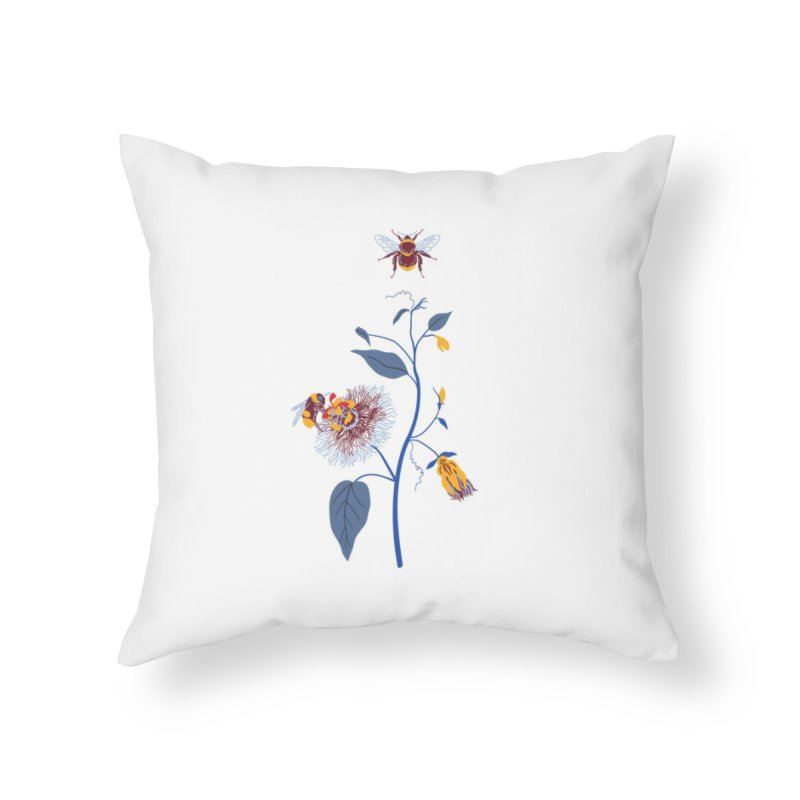Spring Blast 3 Home Throw Pillow by Karina Zlott
