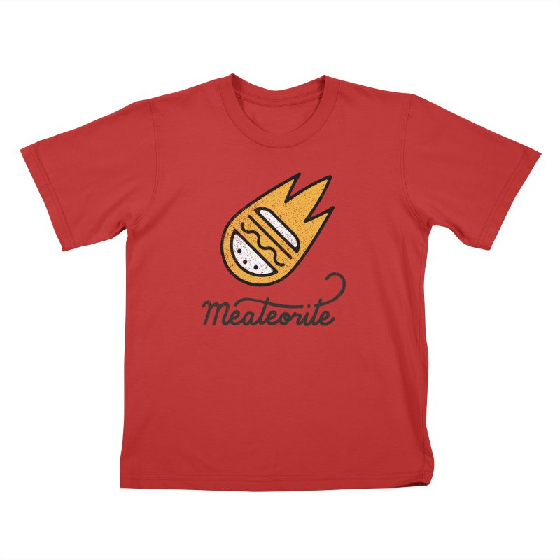 Meateorite Kids T-Shirt by Karina Zlott