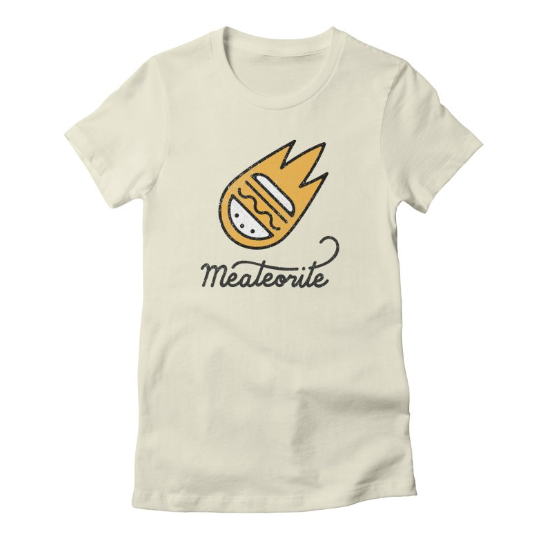 Meateorite Women's Fitted T-Shirt by Karina Zlott
