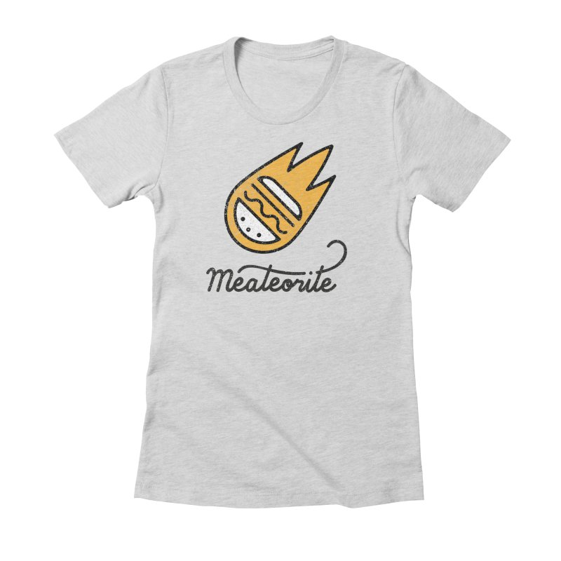 Meateorite Women's Fitted T-Shirt by Kika